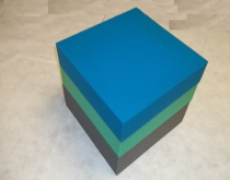 colorful pieces of rectangular polyurethane foam